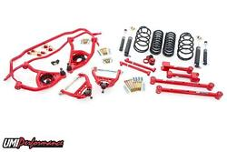 Umi Performance 64 Chevelle Suspension Handling Kit 2 Drop Coil Red Stage 2