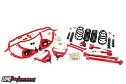 Umi 1965 1966 Chevelle Suspension Kit Handling Package 2 Drop Red Stage 3