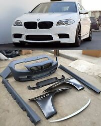 for BMW 5 Series F10 M5 Style Body Kit Bumpers Side Skirts Front Fenders 10-14
