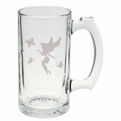 Mystical Fairy And Magic Butterflies Hand Etched Mug 25 Oz Beer Stein Glass Cup