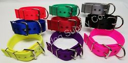 2quot; 3 Ply Nylon Heavy Duty Dog Collar for Pit Bull amp; Large Breeds