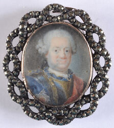 Royalty With Russian Order Of St. Anna Of 1st Class, German Miniature