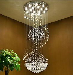 Stairs Chandelier Lamp Modern Simple Duplex Villa Living Room Crystal Light 903