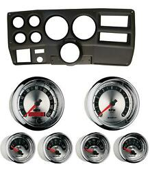 84-87 Chevy Truck Black Dash Carrier W/ Auto Meter American Muscle Gauges 5