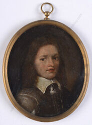 Portrait Of A Boy High Quality Dutch Oil On Copper Miniature 17th Century
