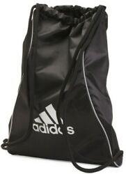 Adidas Block Il BLACK SILVER Sackpack Sling Backpack School Sport Drawstring NEW $15.94