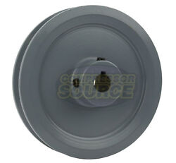 4.5 Cast Iron 5/8 Shaft Pulley Sheave Single 1 Groove V Style A Belt 4l New