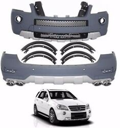 for Mercedes Benz ML x164 ML63 BODY KIT 2009-2012 bumper front and rear A-style