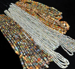 1285 CTS26 STRANDS NATURAL GEM STONE ETHIOPIAN OPAL BEADED NECKLACE 2MM TO 11MM