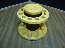 Duraglas Amber Brown Smoking Pipe Stand And Humidor Vintage Holds 10 Pipes Euc