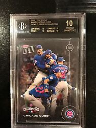 Topps NOW WS-1 Chicago Cubs World Series Champions BGS 10 BLACK PRISTINE ALL POP