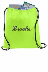 Drawstring Backpack Cinch Sack Gym Bags Sport Bags Personalized Bags Book Bag $14.00