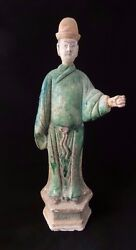 Large Chinese Ming Dynasty Terra-cotta Tomb Attendant Figure Ca. 1368andndash1644 Ad