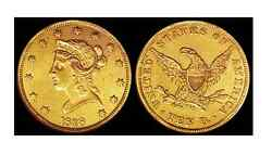 Lot Of 2 Circulated Random Common Date 10 Liberty Head Gold U.s. Coin