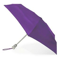 Totes Signature Auto Open & Close Micro 'brella Umbrella Purple Style# 08603 NEW