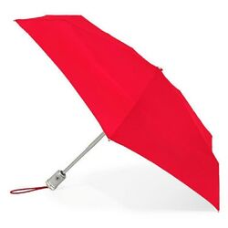 Totes Signature Auto Open & Close Micro 'brella Umbrella Crimson 08603 CRI NEW