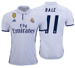 Adidas Gareth Bale Real Madrid Home Jersey 2016/17 Cwc Fifa Patch.