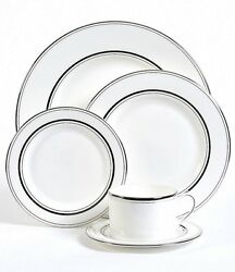 $1428 Kate spade new york Library Lane Platinum 5-Piece Place Setting set of 12