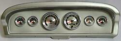 61-66 Ford Truck Silver Dash Carrier W/ Auto Meter American Muscle Gauges
