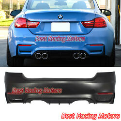 M4 F82 Style Rear Bumper 2 Outlets [2 Tips / Outlet] Fits 07-13 Bmw E92 2dr