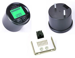 Deluxe Round Backlit Lcd Battery Level Charge Status Hour Meter Gauge W/ Clock
