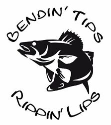 Bendinand039 Tips Rippinand039 Lips Walleye Ice Fishing Window Wall Decal Man Cave Boat