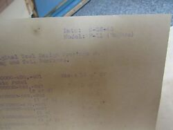 AUTHENTIC XF-11 HUGHES HOWARD SCHEDULE OF ORIGINAL TOOL DESIGN 1945 TAIL WING