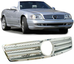 REPLACEMENT CL STYLE CHROME FINISH BONNET GRILL MERCEDES SL R129 NICE GIFT TY2