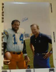Dan Fouts Signed 20x30 Photo Psa/dna Coa Chargers Football Picture W Don Coryell