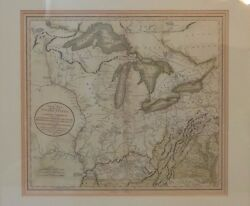 Great Antique Map Of North America - John Cary 1811