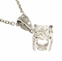 .73ct Old European Cut Diamond In A 18kt White Gold .13tcw Pendant Setting