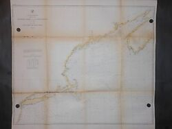 United States East Coast Cape Sable To Sandy Hook Long Island 1864 Map Handcolor