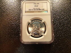 1962 Franklin Half Ngc Pf Proof 67 Beautiful Strike And Lustre- Affordable- Offe