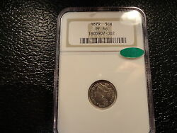 1879 3cn Three Cent Nickel Ngc Pf 66 With Cac Decal