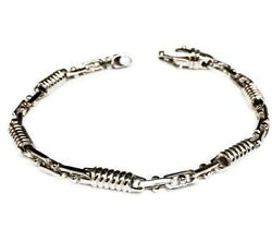 14kt Solid White Gold Mens Handmade Fashion Chain/necklace 18 5mm 37 Grams