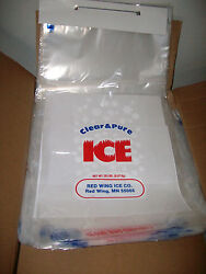 500 bags case on wickets High Quality Plastic Bag Clear Printed 20LB Ice Bags $127.99
