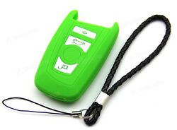 Green Silicone Case Cover For BMW 2 5 7 Series Remote Smart Key 4 Buttons B7GR