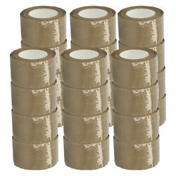 3 X 110 Yards Brown Tan Hotmelt Packaging Packing Tape 2.44 Mil Thick 240 Rolls