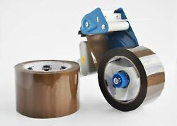 36 Rolls Brown Hotmelt 2 X 55 Yds Packaging Packing Tape 1.6 Mil With Dispenser