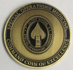 Socom Special Operations Medicine Md Medical Doctor Command Coin Of Excellence