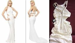 New 6k Alexandre Vauthier Sexy Cutout White Dress Gown Fr 38 So Rare Sold Out