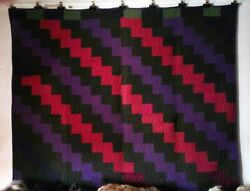 Lightning Antique Quilt From The Ohio Amish C 1900 Dress Wools.