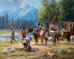 Snake River Culture By Martin Grelle. Magnificently Framed Grande Edition, Mint