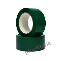 Green Color Carton Sealing Packing Tape 2 X 330and039 / 48 Mm X 110 Yards 36 Rolls