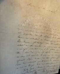 1812 Letter On Napoleonic Watermarked Paper By F. Johannot - Lindsay Collection