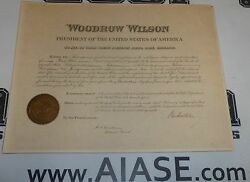 President Woodrow Wilson Signed 1915 Appointment Document Psa/dna Coa Autograph
