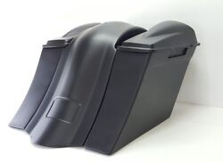 09-13 Harley 6 Saddlebags Overlay Fender 6.5 2 Lids No Exhaust Cutout