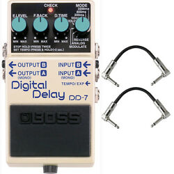BOSS DD-7 Digital Delay Guitar FX Effects Pedal Stompbox Footswitch + Cables