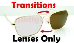 TRANSITIONS BROWN RB3136 Caravan Anti Glare Replacement Lenses Ray Ban 55mm 58mm