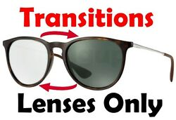 TRANSITIONS GREY RB4171 Erika Anti Glare Replacement Lens Ray Ban 54mm Round